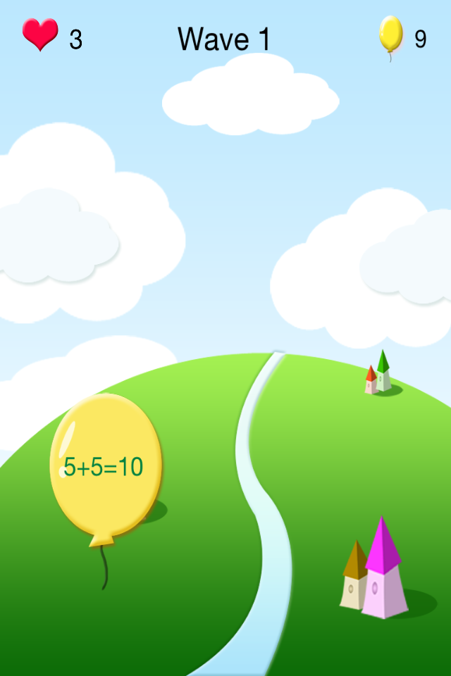 儿童数学:气球大战
