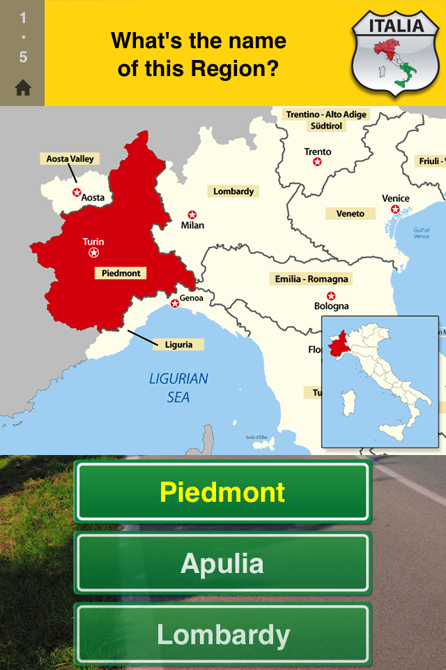 Screenshot Geo Italy – 5 games in 1 – Play with regions and capitals of Italy!